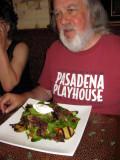 A warm chevre salad