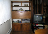 The hutch in the dining area