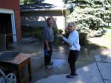 A visit from Nancy, next door neighbor