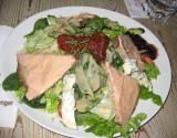 Gourmet salad with foie gras