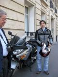 Brigitte and her moto