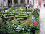 Garden in courtyard of the Carnavalet Museum