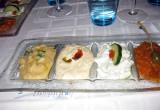 Cold appetizers at Les Delices d'Aphrodite