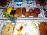 Hot appetizers at top
