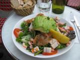 Fisherman's salad at Café Parisienne