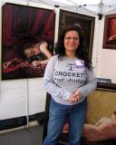 Elahe Crockett and her paintings at the art festival