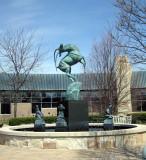 Leaping Gazelle fountain Marshall Fredericks