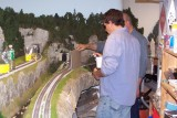 Using cardboard to keep hairspray off the rails