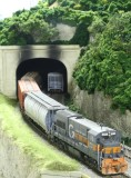 MEC 404 exiting Vosburg Tunnel, note new grass on left