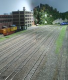 Overall view of grass efforts at Hammill Yard
