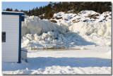 Pêche blanche sur le Saguenay gelé: hauteur de la marée