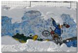 Skate parc sous la neige