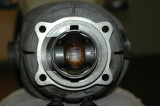 Correct piston orientation.