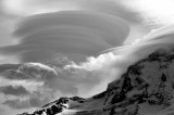 looking at lenticular clouds