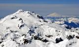 Glacier Peak and Mt Baker in distant