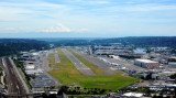 Boeing Field with 787 and 747-8F