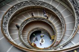 Staircase in Vatican Museum, Rome, Italy