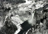 Snoqualmie Falls in snow