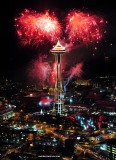 joyous New Year on Space Needle 2011