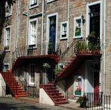Red Staircases in Edinbourgh