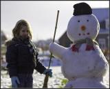 Domenica  & snowman