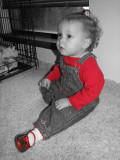 Aly with her red shoes.....