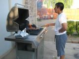 Vel making dinner
