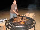 Jon cooking dinner