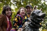 Sam, Sylvi & Mitch With Balto in Central Park