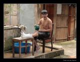 7769 Vietnam taking a bath