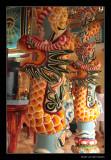 7394 Vietnam, dragon on pillar Cao Dai tempel