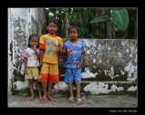 3314 Indonesia, children eating waterice