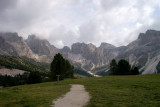 After walking towards S Cristina, we take the Col Raiser lift, a 550m ascent