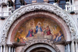 Mosaic over the center portal