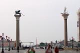 Piazetta San Marco, the columns---the lion and St Todar