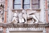 The Doge Francesco Foscari and the winged Lion of Venice