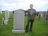 My Cousin Gordon at our Great Grandparents Grave