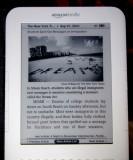 Kindle lit by Beam N Read light