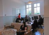 Internet Archive downstairs workspace