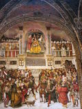 It's by Pinturicchio: Coronation of Pope Pius II