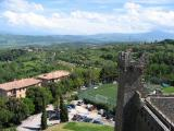 Modern day Montalcino from my higher turret