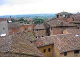 rooftops below
