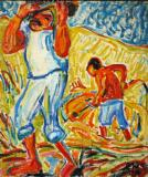 Sand Diggers on the Tiber- Erich Heckel 1909