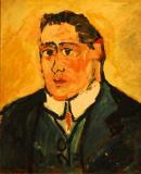Portrait of Guillaume Apollinaire- Maurice de Vlaminck circa 1904-1905