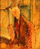 Reverie (Study for the Portrait of Frank Burty Haviland)- Amedeo Modigliani 1914