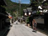 Cycling along Shinmachi-dōri