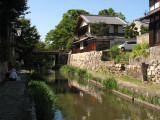 Hachiman moat scene with visiting artists