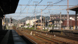Wires above the tracks at Ōmi Hachiman Station
