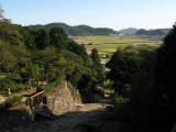 Farmland beyond the castle site