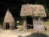 Female and male Ainu outhouses